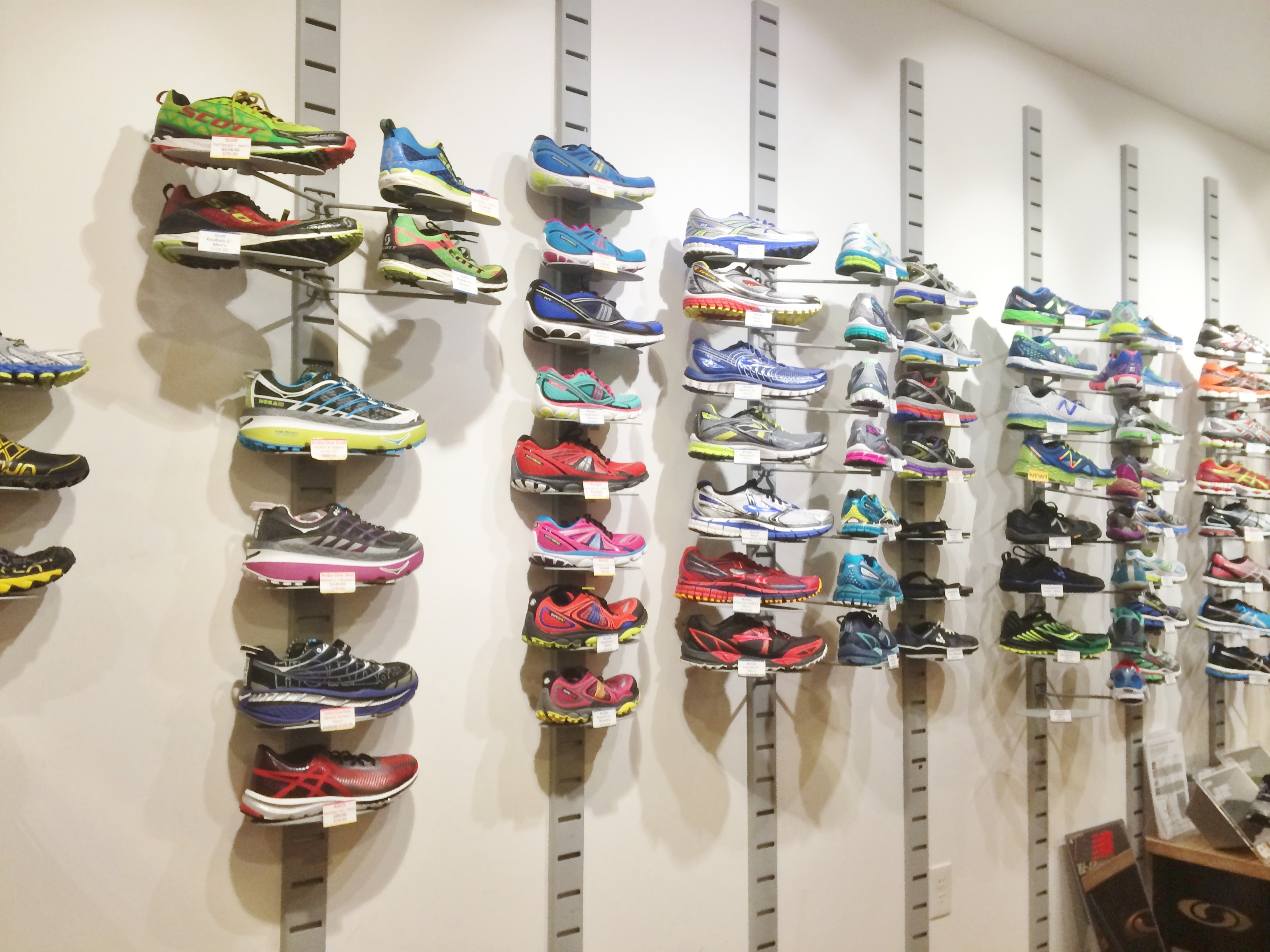Zombies and runners and coffee oh my 4 branding tips for Sneaker wall display