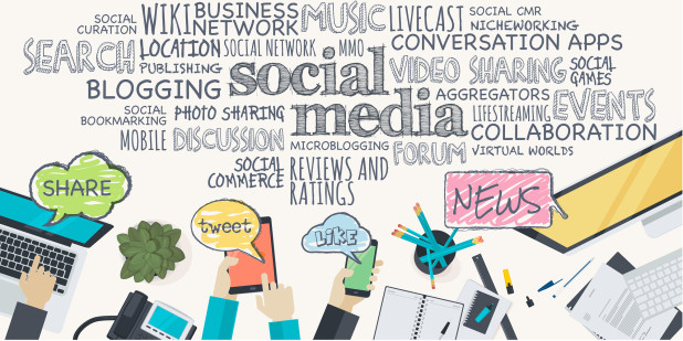 Social media cartoon – marketing tips and trends for small online businesses