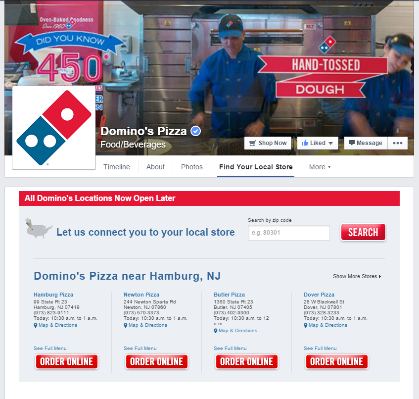 Domino's Pizza Facebook page – Facebook marketing tips and business growth strategies for online businesses.