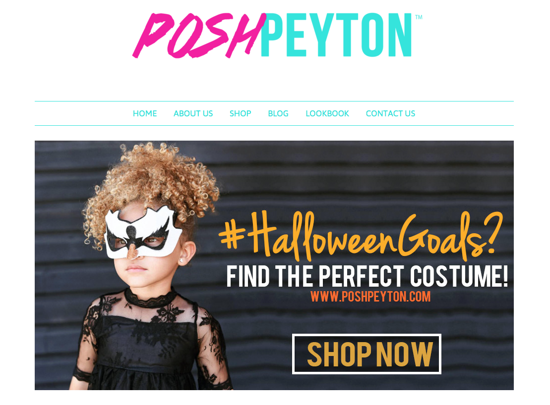 Posh Peyton Halloween children's costumes – successful online business story & ecommerce business tips